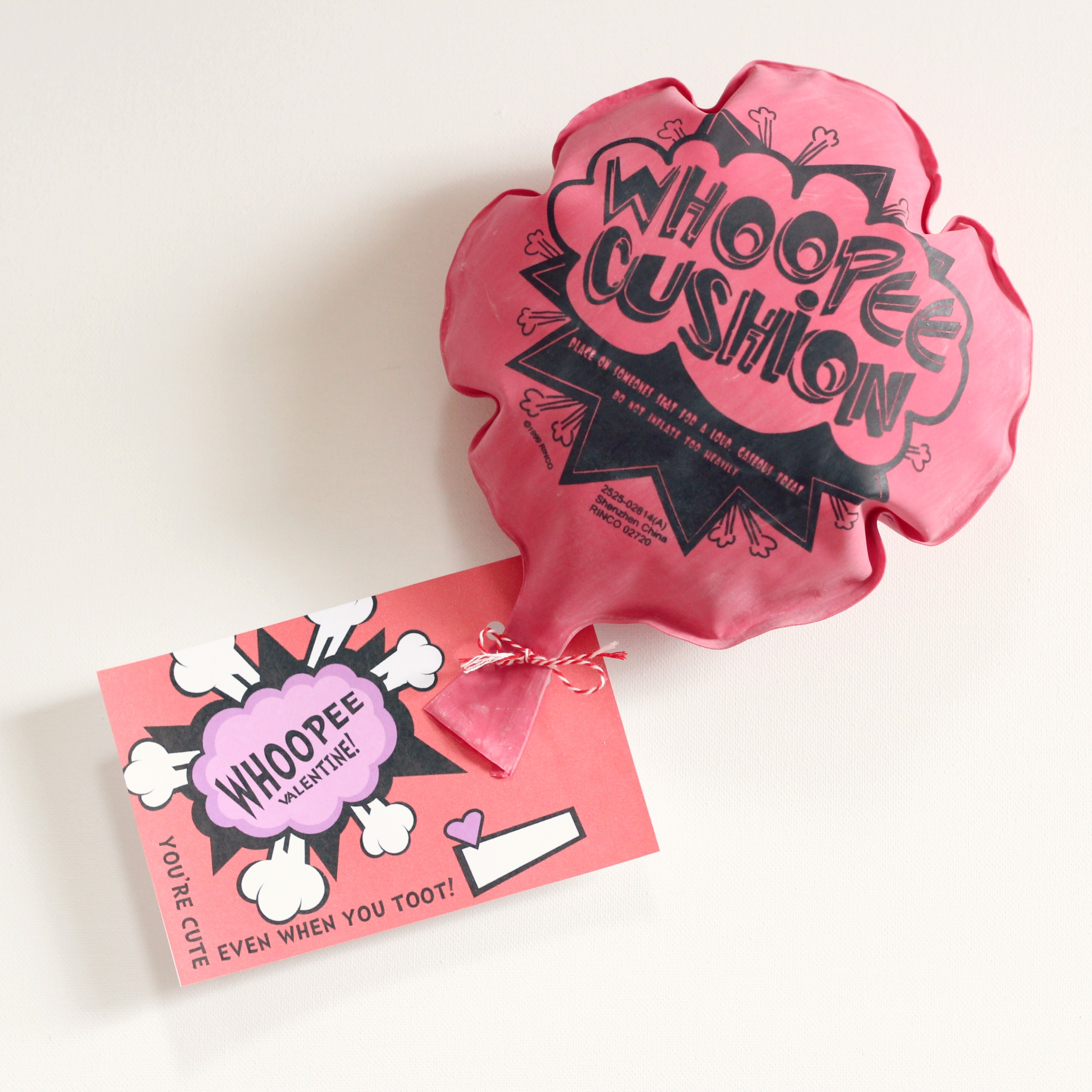Whoopee Cushion Valentines With Free Printable Cards