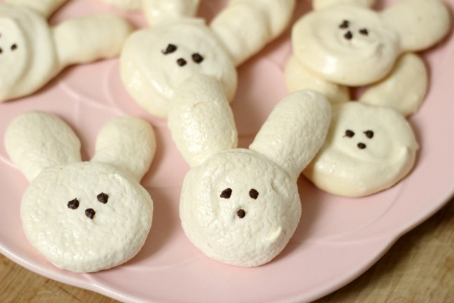Bunny Meringues Cookie Recipe and How-To for Easter Treats