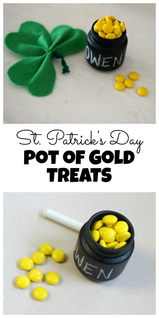 DIY Mini Pot of Gold Treats for St. Patrick's Day