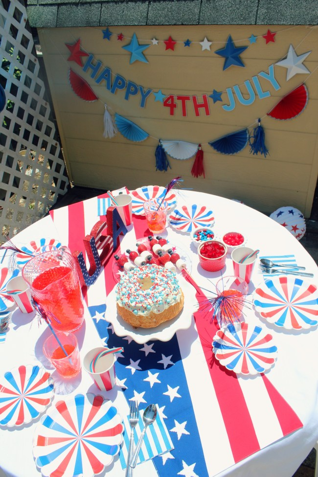 4th of july party and banners