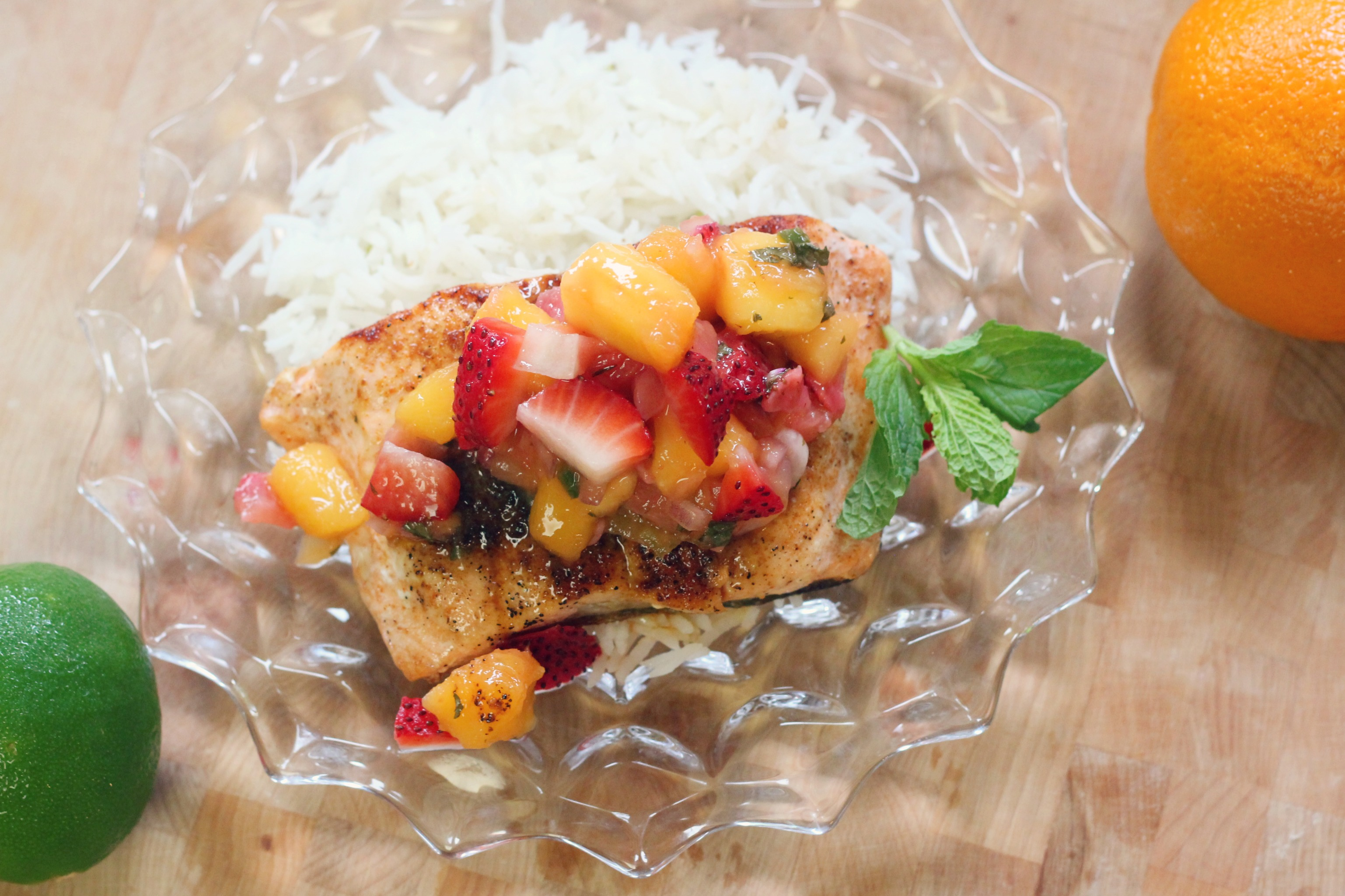 Seared Tropical Salmon with Mango Salsa