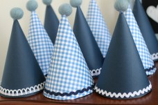 party hats with felt ball toppers