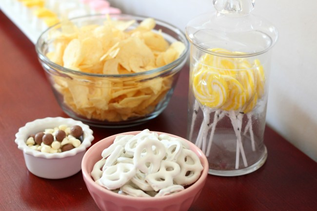 smiley face party snacks