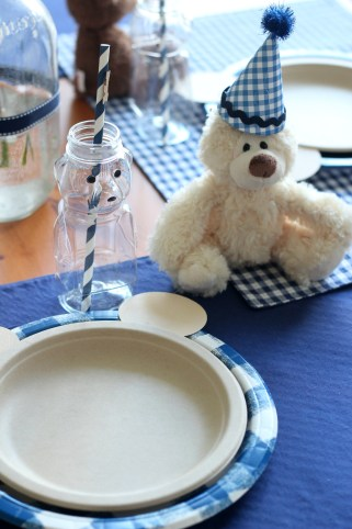 teddy bear party place setting