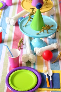 Dinosaur Fossil Party - a rainbow dino dig birthday!