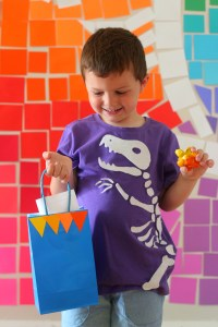 Dinosaur Fossil Birthday Party - a rainbow dino dig celebration!