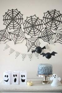 Spooky Black & White Halloween Party Ideas