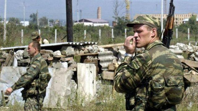 Soldados russos na Chechênia