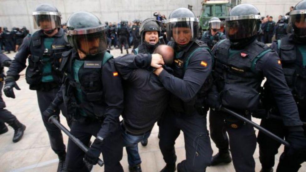 Guardias civiles en Cataluña