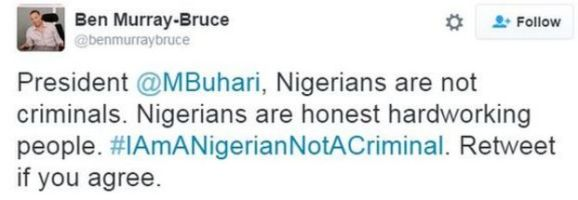 Tweet by senator Ben Bruce-Murray