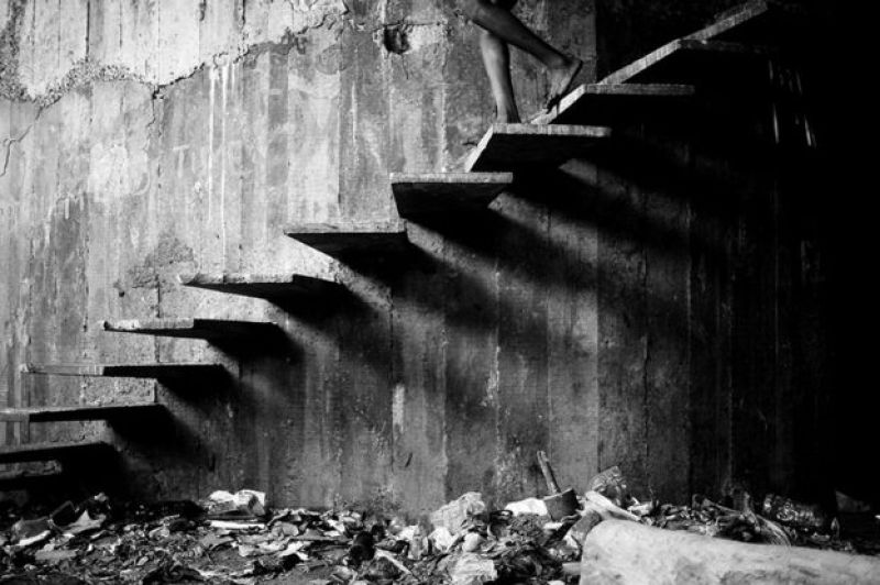 Stairs of Shadows by Mario Macilau
