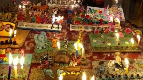 Comemoração do hanukah na casa dos Dodeles
