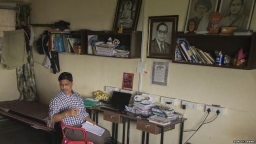 Mr Yadav's room in Mumbai