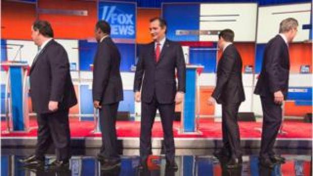 Republican candidates on stage