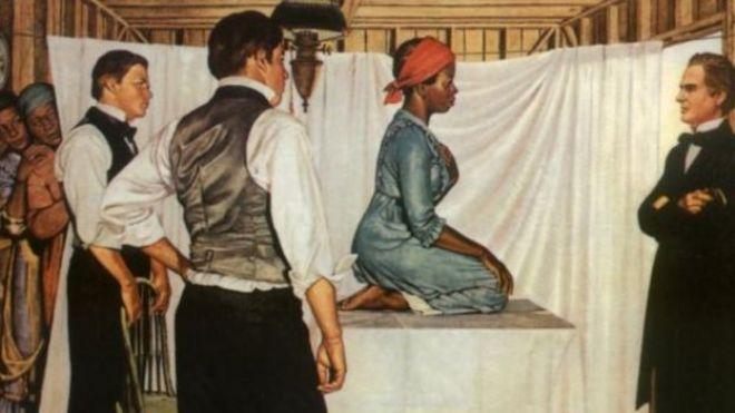 Ilustración del consultorio de James Sims