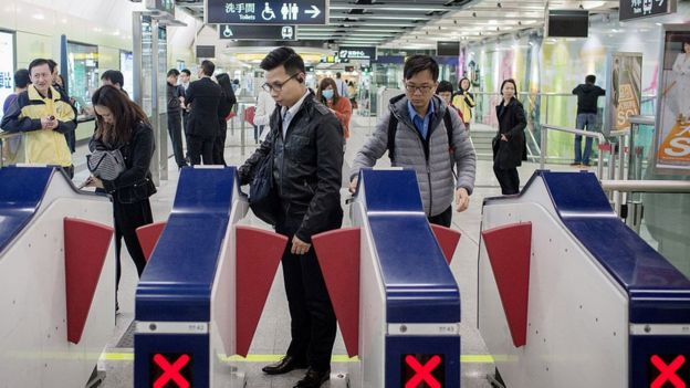 Metro de Hong Kong.