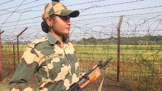 Border patrol in West Bengal near Kolkata