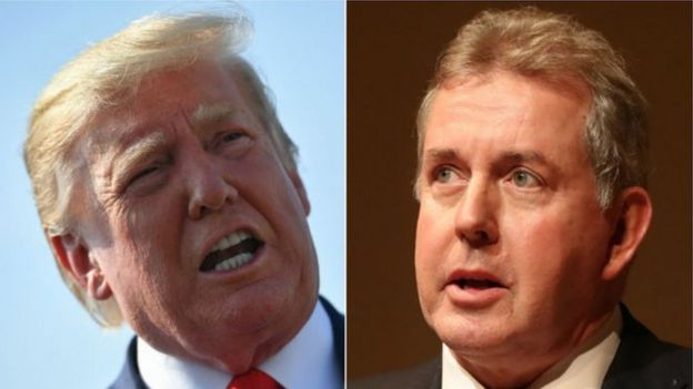 President Donald Trump and Sir Kim Darroch