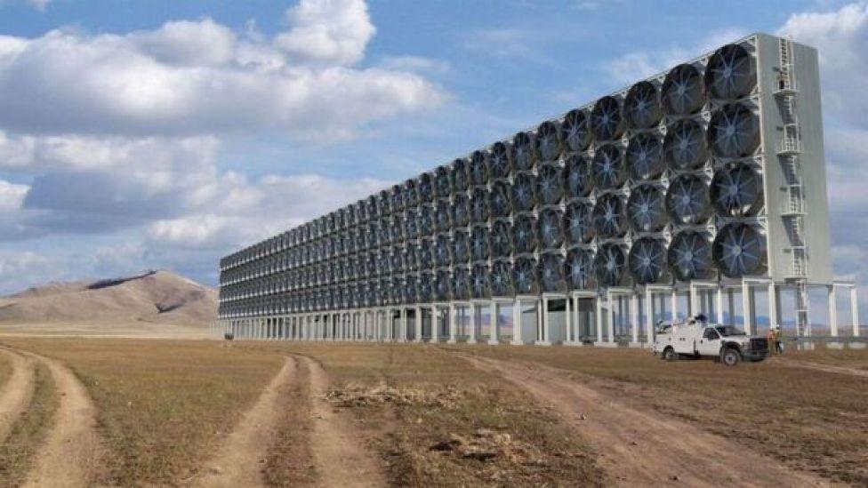 Instrumento para retirar carbono del aire.