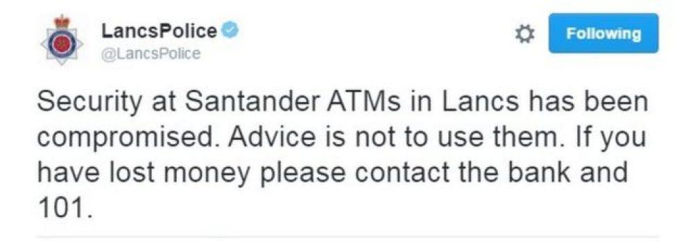 Lancashire Police tweet