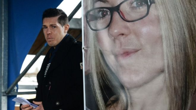 France crime  Thousands mourn murdered jogger Alexia Daval   BBC News Alexia Daval s husband Jonathan Daval passes behind an Alexia poster during  a silent march gathering more