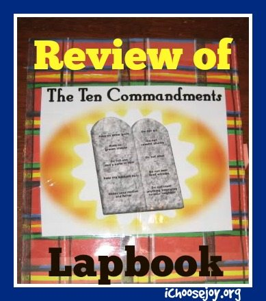 Review of Ten Commandments Lapbook