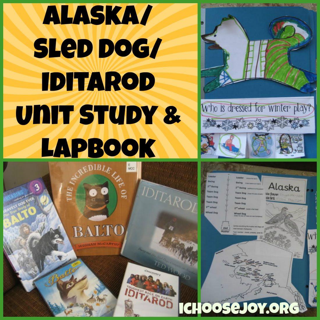 Alaska/ Sled Dog/ Iditarod unit study and lapbook
