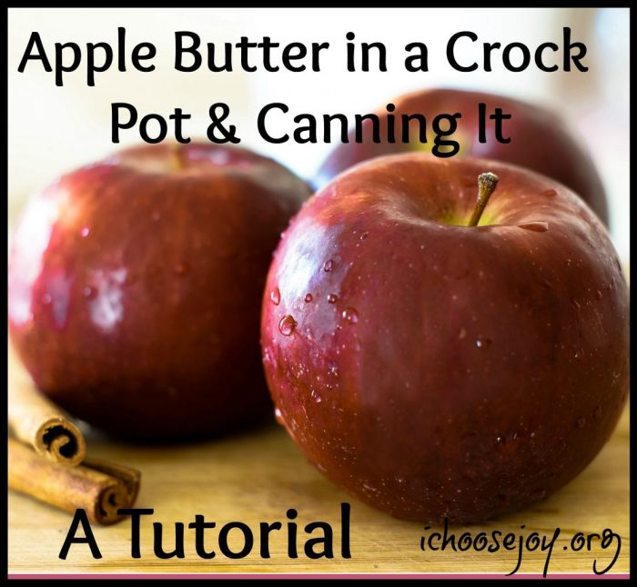 Apple Butter in a Crock Pot & Canning It - A Tutorial