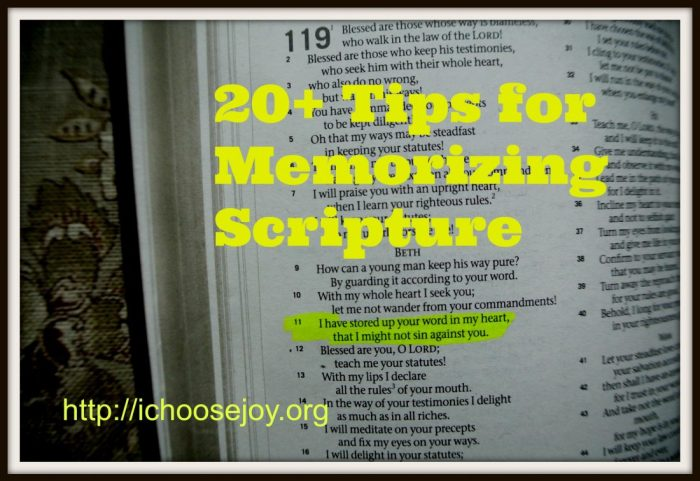 20+ Tips for Memorizing Scripture