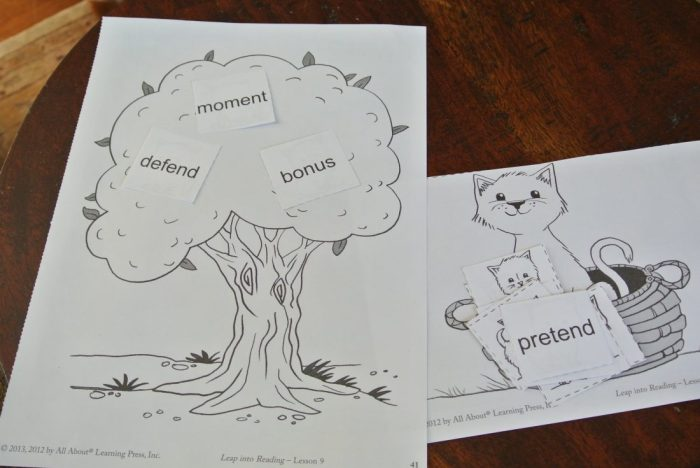 All About Reading activity sheets 013