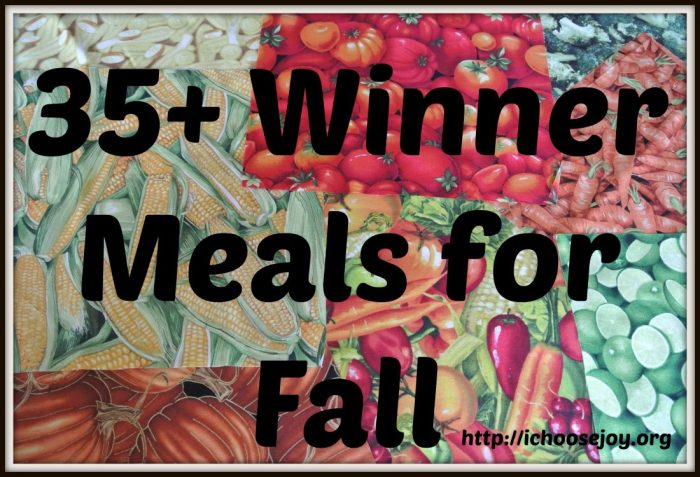 Winner Meals for Fall