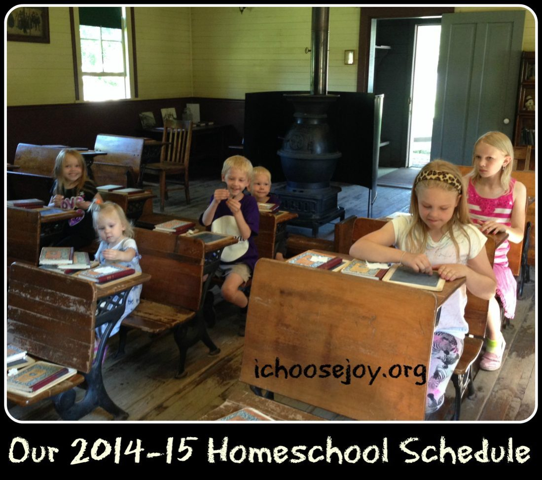 Our 2014-15 Homeschool Schedule and a BIG $500 Giveaway!