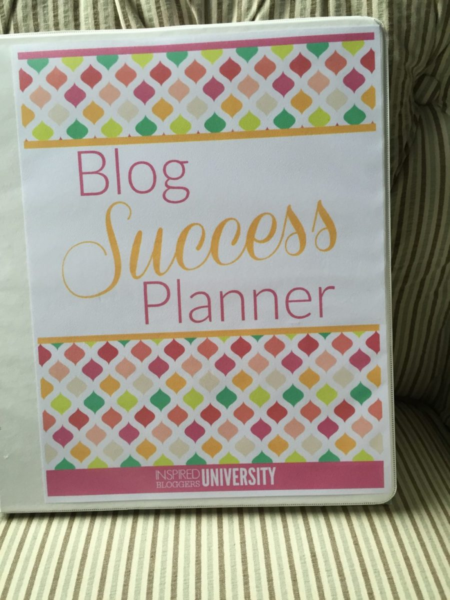 Blog Success Planner--See mine and then get your own!