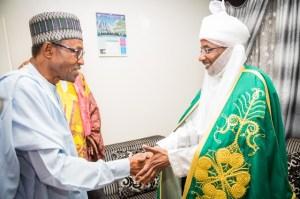 President Buhari and Emir Sanusi