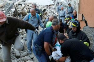 Rescue workers poured in to search for survivors
