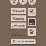 Pinterest social stickers