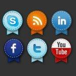 icônes partage social