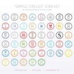 icônes circulaires simple