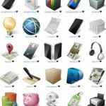 ecommerce business icon set