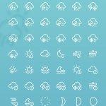 minimal weather icons