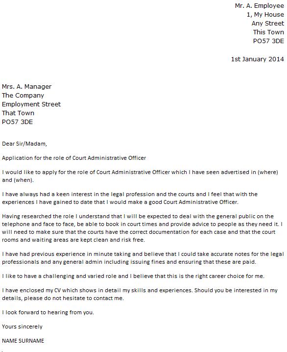 Job Application Letter Sample For Unemployed