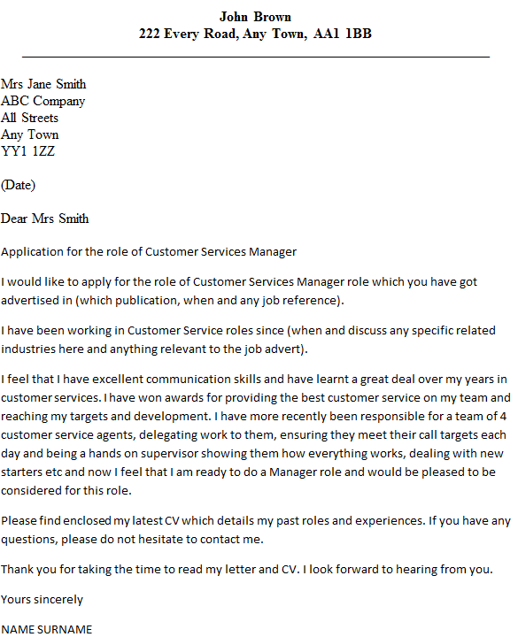 Customer service cover letter examples 2014 for Cover letter for customer care officer