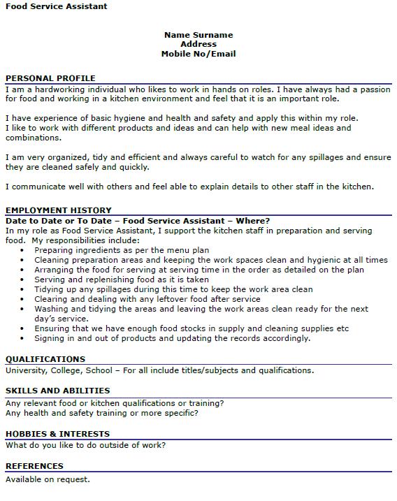 Order resume online uk food