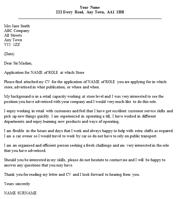 Cover Letter For Aldi Store Retail District Manager