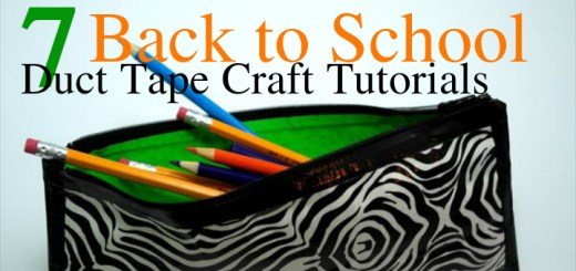 7 Back to School Duct Tape Craft Tutorials