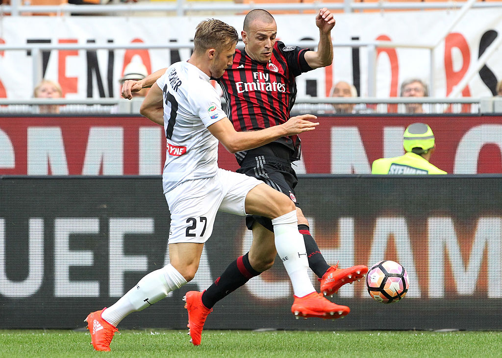 during the Serie A match between AC Milan and Udinese Calcio at Stadio Giuseppe Meazza on September 11, 2016 in Milan, Italy.