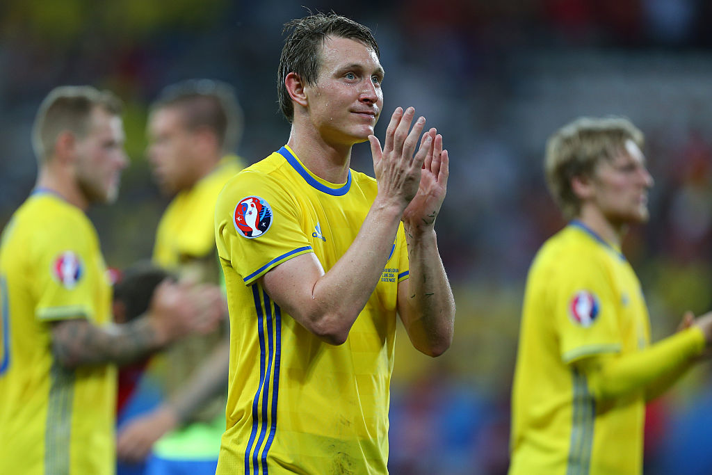 NICE, FRANCE - JUNE 22: Kim Kallstrom of Sweden during the UEFA EURO 2016 Group E match between Sweden and Belgium at Allianz Riviera Stadium on June 22, 2016 in Nice, France. (Photo by Catherine Ivill - AMA/Getty Images)