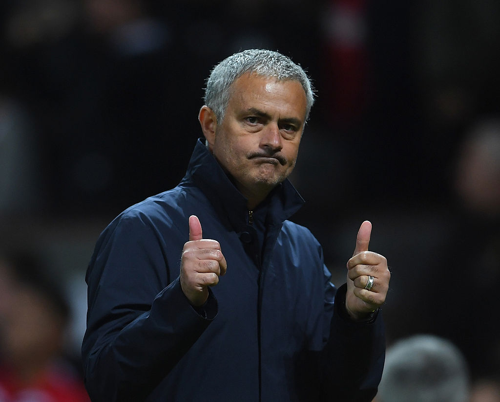 MANCHESTER, ENGLAND - SEPTEMBER 29:  Jose Mourinho, Manager of Manchester United celebrates following his sides 1-0 victory during the UEFA Europa League group A match between Manchester United FC and FC Zorya Luhansk at Old Trafford on September 29, 2016 in Manchester, England.  (Photo by Laurence Griffiths/Getty Images)