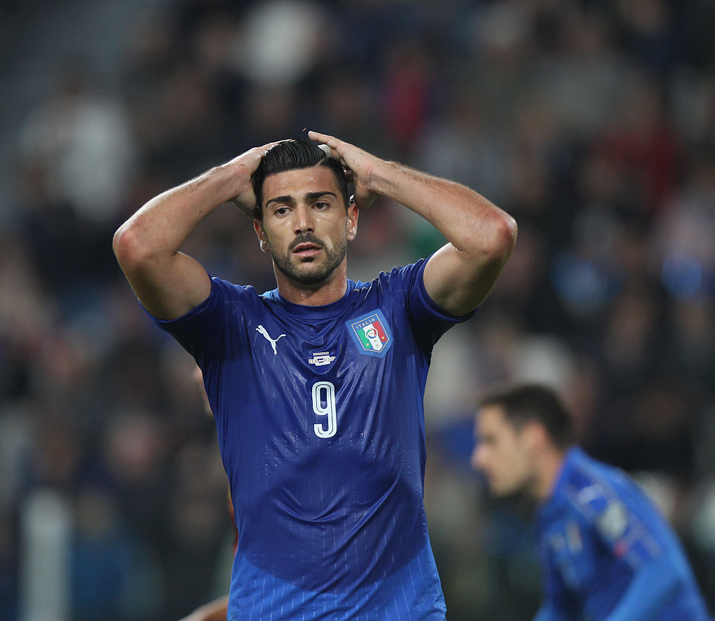 during the FIFA 2018 World Cup Qualifier between Italy and Spain at Juventus Stadium on October 6, 2016 in Turin, .
