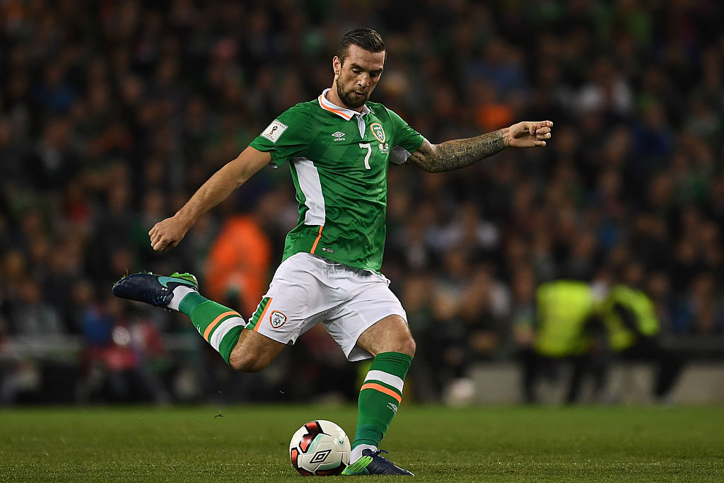 DUBLIN, IRELAND - OCTOBER 06:  Shane Duffy of Ireland in action during the FIFA 2018 World Cup Group D Qualifier between Republic of Ireland Georgia at the Aviva Stadium on October 6, 2016 in Dublin, Ireland.  (Photo by Mike Hewitt/Getty Images)